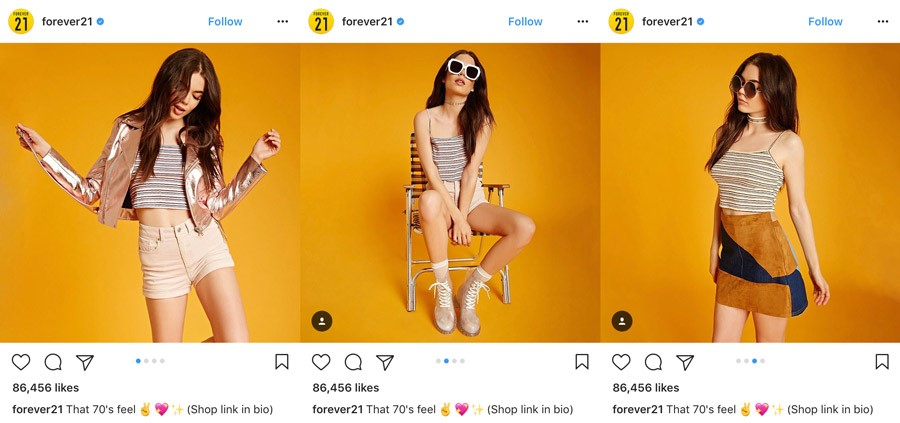 forever21 - 5 Instagram Marketing Tips to Rocket Your Social Awareness